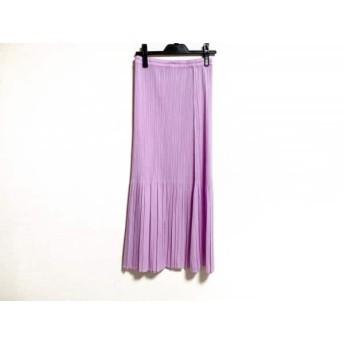【中古】 プリーツプリーズ PLEATS PLEASE ロングスカート サイズ4 XL レディース パープル プリーツ