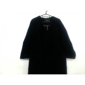 【中古】 アドーア ADORE コート サイズ36 S レディース 美品 黒 冬物