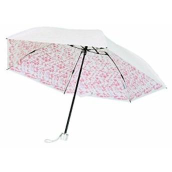 プレミアム ホワイト 折りたたみ傘 手開き 遮光 遮熱 日傘/晴雨兼用傘 リエール 全3色 ピンク 6本骨 50cm UVカット 99%以上 軽量 コ