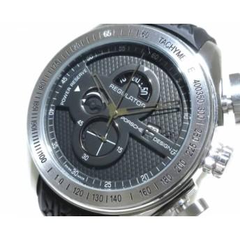 【中古】 ポルシェデザイン PORSCHE DESIGN 腕時計 REGULATOR P'6780 メンズ クロノグラフ 黒