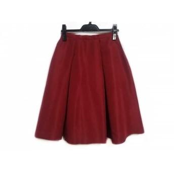 【中古】 チェスティ Chesty スカート サイズ0 XS レディース レッド プリーツ