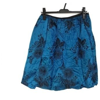 【中古】 ヴィヴィアンタム VIVIENNE TAM スカート サイズ0 XS レディース ブルー 黒 シルク