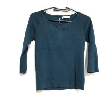 【中古】 アプワイザーリッシェ Apuweiser-riche 長袖セーター サイズ2 M レディース グリーン