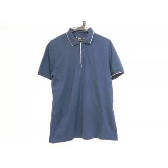 【中古】 セオリー theory 半袖ポロシャツ サイズL レディース ネイビー 白 UNIQLO