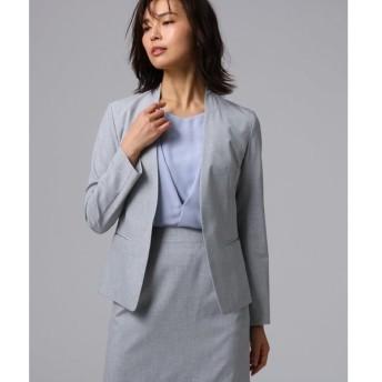 UNTITLED / アンタイトル 【洗える】ドレッサーリオペルライトクロスカラーレスジャケット