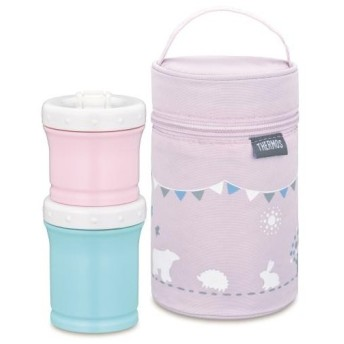 サーモス 保冷ポーチ付き離乳食ケース NPE-240-P ピンク 《納期約1週間》
