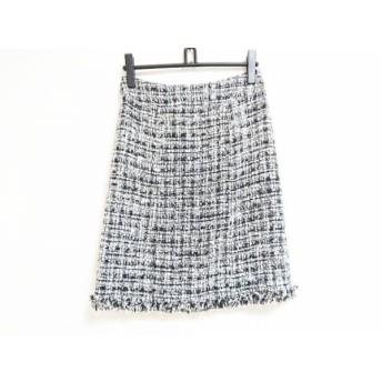 【中古】シャネル CHANEL スカート サイズ38 M レディース アイボリーx黒xマルチ ツイード