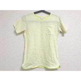 【中古】 ノースフェイス 半袖Tシャツ サイズS レディース アイボリー ライトグリーン ボーダー