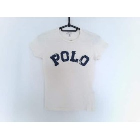 【中古】 ポロラルフローレン POLObyRalphLauren 半袖Tシャツ サイズXS レディース 白 ネイビー