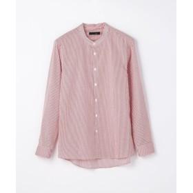【30%OFF】 トゥモローランド ストライププリント バンドカラーシャツ メンズ 36レッド系 0 【TOMORROWLAND】 【セール開催中】