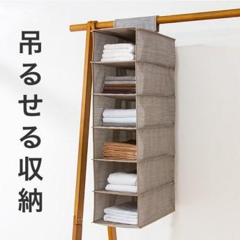 吊るす収納 浅型 幅22cm クローゼット収納 ハンガーラック 吊るす 衣装ケース 布製 小物 収納 押し入れ収納 コンパクト