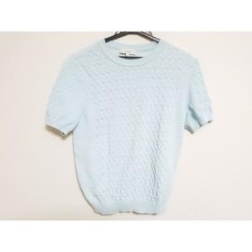 【中古】 エポカ EPOCA 半袖セーター サイズ40 M レディース ライトブルー