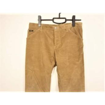 【中古】 グッチ GUCCI パンツ サイズ48 M メンズ ライトブラウン コーデュロイ