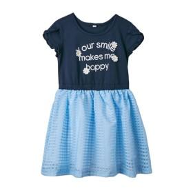 チュールドッキングワンピース(女の子 子供服。ジュニア服) ワンピース