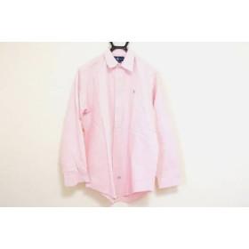 【中古】 ラルフローレン RalphLauren 長袖シャツ サイズ16-33 メンズ 美品 ピンク