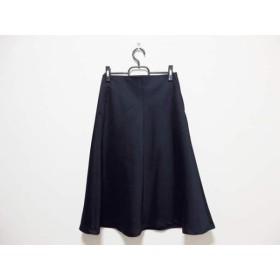 【中古】 マルティニーク martinique ロングスカート サイズ2 M レディース ダークネイビー