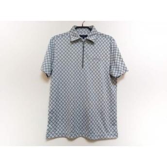 【中古】 キャロウェイ CALLAWAY 半袖ポロシャツ サイズM メンズ ライトグレー グレー ジップアップ