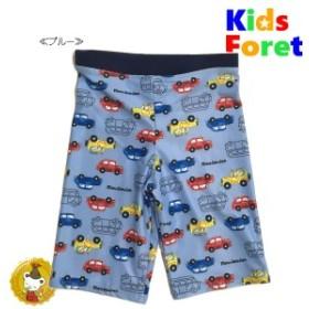 キッズフォーレ【Kids Foret】車総柄スイムパンツ(ブルー)(130p)