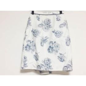 【中古】 アプワイザーリッシェ スカート サイズ00 XS レディース 白 ネイビー ラメ/花柄