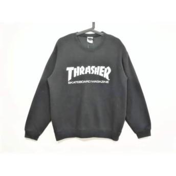 【中古】 スラッシャー THRASHER トレーナー サイズL メンズ 黒 白