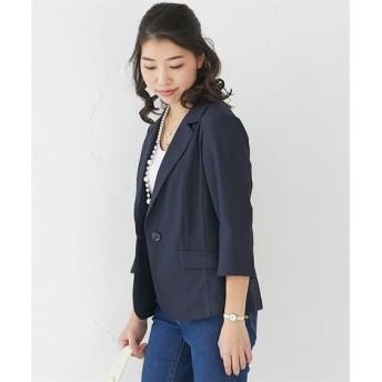 小さいサイズ ストレッチコードレーン テーラードジャケット(7分袖) 【小さいサイズ・小柄・プチ】コート