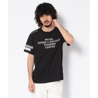 アヴィレックス シンセティック リフレクターTシャツ/SYNTHETIC REFLECTOR T SHIRT メンズ BLACK XL 【AVIREX】