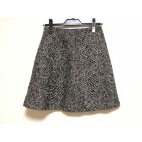 【中古】 トゥモローランド スカート サイズ36 S レディース 黒 ダークブラウン アイボリー