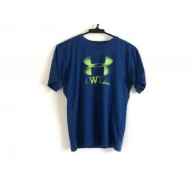 【中古】 アンダーアーマー UNDER ARMOUR 半袖Tシャツ レディース ブルー ライトグリーン