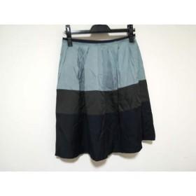 【中古】 ロイスクレヨン スカート サイズM レディース ライトブルー ダークグレー パープル