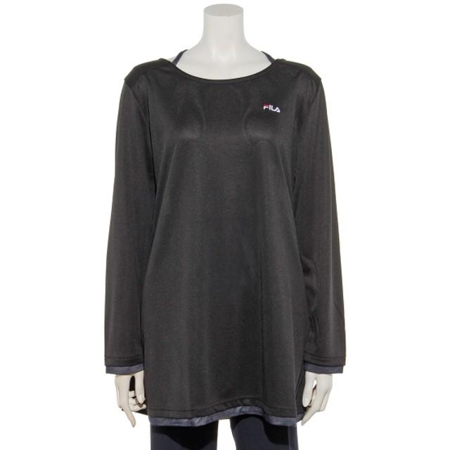 1ac3603bdf3 47%OFF FILA (フィラ) UVデニム使いチュニックTシャツ ブラック 通販 ...