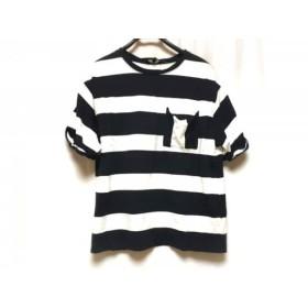 【中古】 セオリー theory 半袖Tシャツ サイズS レディース ネイビー 白 ボーダー