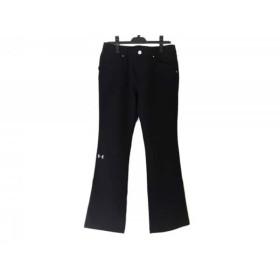 【中古】 アンダーアーマー UNDER ARMOUR パンツ サイズLG L レディース 黒 刺繍