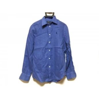 【中古】 ポロラルフローレン POLObyRalphLauren 長袖シャツ サイズXS メンズ ブルー