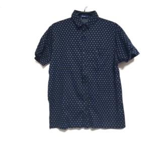 【中古】 フレッドペリー FRED PERRY 半袖シャツ サイズM メンズ ネイビー 白 ドット柄
