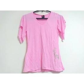 【中古】 ディーゼル DIESEL 半袖Tシャツ サイズM レディース ピンク