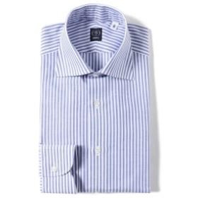 BEAMS F / コットンリネン ロンドンストライプ ワイドカラーシャツ メンズ ドレスシャツ LT. BLUE/11 41