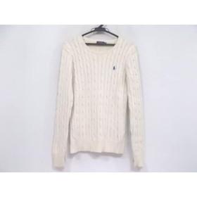 【中古】 ポロラルフローレン POLObyRalphLauren 長袖セーター サイズM メンズ アイボリー
