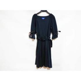 【中古】 ブルーレーベルクレストブリッジ BLUE LABEL CRESTBRIDGE ワンピース レディース 美品 ネイビー