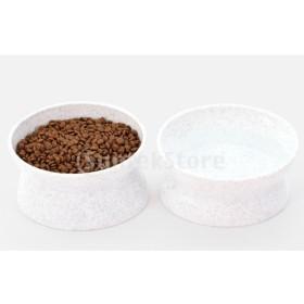 F Fityle 小型動物用品 ペット 猫&犬 食器 お皿 ボウル 食事 2 in 1 ノンススリップ 健康 実用的