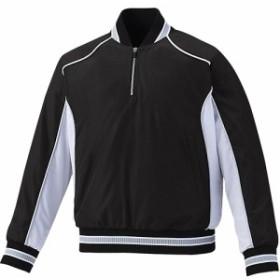 アシックス(asics) ジュニア 野球 アウター VジャンLS ブラック×ホワイト BAV12J 9001 【トレーニングウェア スポーツウェア ジャンバ