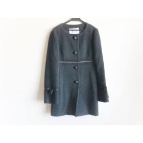 【中古】 オースチンリード コート サイズ38 L レディース ダークグレー 黒 ノーカラー/マフラー/冬物