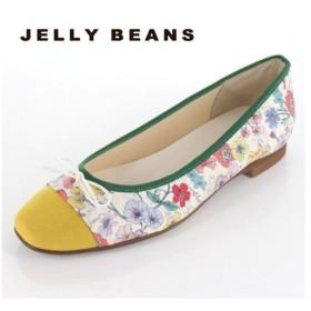 JELLY BEANS ジェリービーンズ 靴 2371 パンプス バレエパンプス バレエシューズ スクエアトゥ リボン 花柄 日本製 レディース セール