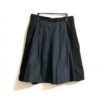 【中古】 アンテプリマ ANTEPRIMA スカート サイズ42 M レディース 黒 ダークネイビー