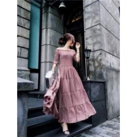 【送料無料】レディース ワンピース プリーツ ドレス オフショル 花柄 小花柄 袖 大きいサイズ ドレス 結婚式 お呼ばれ 5l BTBA1482