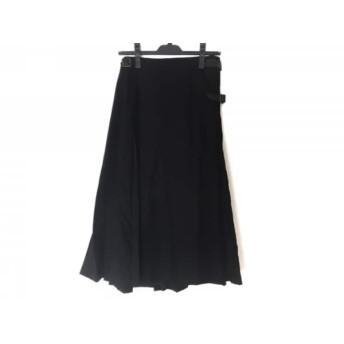【中古】 インゲボルグ INGEBORG 巻きスカート レディース 黒