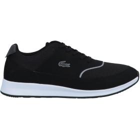 《セール開催中》LACOSTE レディース スニーカー&テニスシューズ(ローカット) ブラック 7 紡績繊維