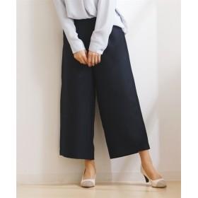 接触冷感。麻調合繊セミワイドパンツ(セットアップ対応) (レディースパンツ),pants