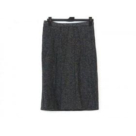 【中古】 ドルチェアンドガッバーナ スカート サイズ38 S レディース 美品 ダークグレー 黒 アイボリー
