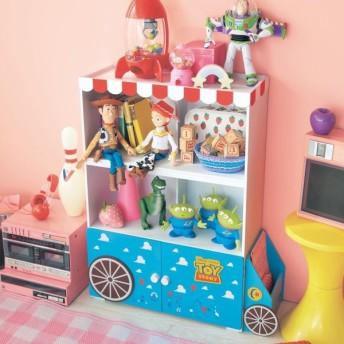 キャビネット ディズニー トイ・ストーリー 収納 ラック 棚 日本製 リビング 子供部屋