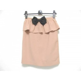【中古】 アプワイザーリッシェ Apuweiser-riche スカート サイズ1 S レディース 美品 ピンクベージュ